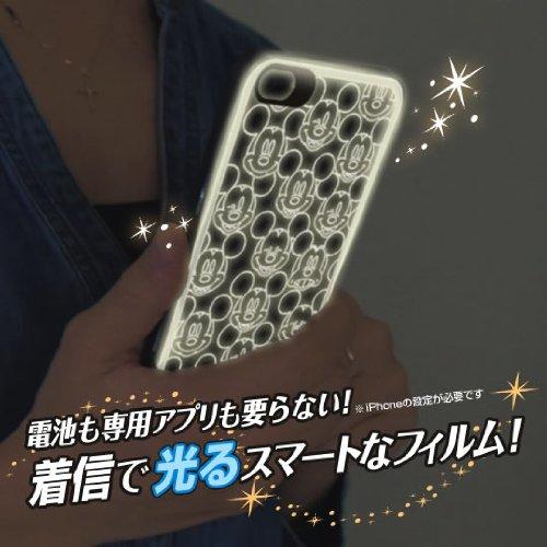 フラッシュフィルム iPhone 5 ディズニー(ミッキーフェイス 総柄)【予約:4月下旬発売予定】