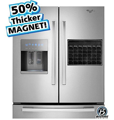 Bigtime Magnetic Refrigerator Calendar Dry Erase Black