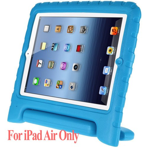 Mycarryingcase Kids Armorbox Kickstand Cover Case For Ipad Air For Blue front-203306