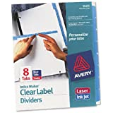 Avery® Index Maker Dividers with Color Tabs, Blue Eight-Tab, Letter, Five Sets per Pack