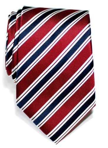 Premium Preppy Stripe Pattern Woven Microfiber Men's Tie - Various Colours