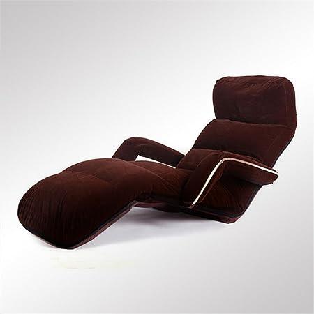 Divano in tessuto divano Piccola taglia divano letto divano letto Tatami computer sedia Dormitorio galleggiante Sedia schienale divano pigro , brown