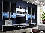 DORADE - TV CABINETS / TV STANDS / ENTERTAINMENT UNIT / TV UNIT / HIGH GLOSS/ Available in 11 colours!!! (SHADOW), width 300cm