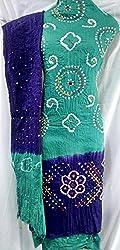 Shubh Women's Dress Material (5303CWRMPU_Teal Purple_Free Size)
