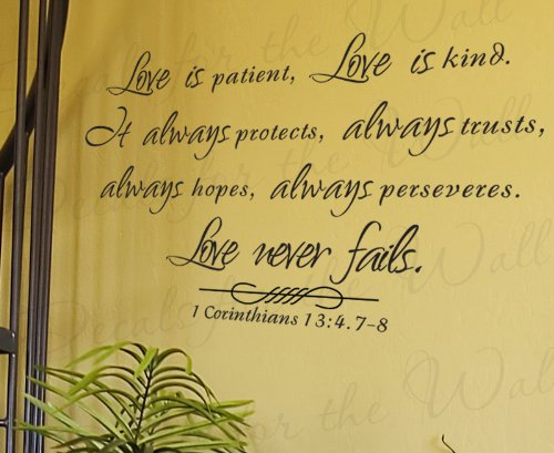 Love is Patient Kind Protects Trusts Hope 1 Corinthians