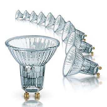 Osram 64820FL Lot de 10 ampoules halogènes HALOPAR16 avec réflecteur et culot GU10, 35 W, 35°, 230 V