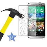Tempered Glass LCD Screen Protector Guard & Polishing Cloth For HTC E8 / M7 / M8 / One Mini 2 / Desire 610.