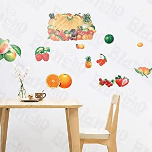 Amazon.com: [Fruit Party] Decorative Wall Stickers Appliques ...