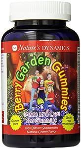 Berry Garden Gummies Organic Whole Food Children's Multivitamin Cherry Flavor (120 Count)