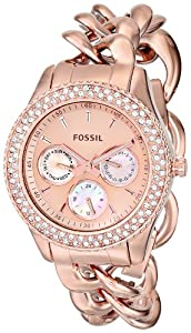 Fossil Women's ES3500 Stella Analog Display Analog Quartz Rose Gold Watch