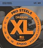 D\'Addario Cordes pour guitare �lectrique D\'Addario ProSteels EPS510, Regular Light, 10-46