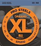 D\'Addario Cordes pour guitare �lectrique D\'Addario ProSteels EPS510, Regular Light, 10-46