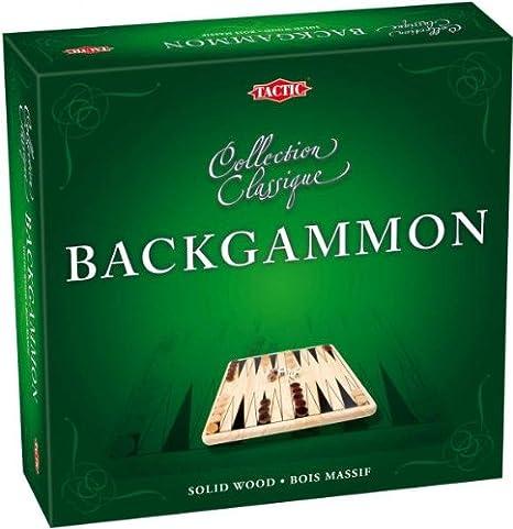 Tactic - 40219 - Jeu de Société - Coffret Backgammon en Bois