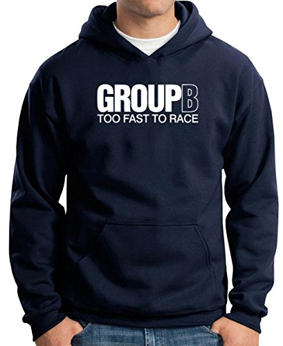 Cotton Island - Felpa Hoodie TB0272 Group B Too Fast Too Race Rally Car, Taglia S