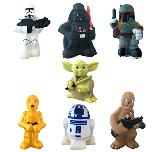 Star Wars Set Of 7 Character Squeeze Toys - Disney Parks Exclusive (Portal Bath Tubs compare prices)