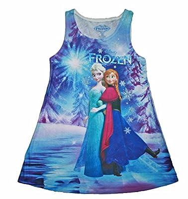 Disney Frozen Anna & Elsa Sleeveless Lightweight Sublimated Dress
