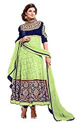 Riya Fashions Women's Net Unstitched Dress Material (Pack of 2)(R6900_Multicolor_Free Size)