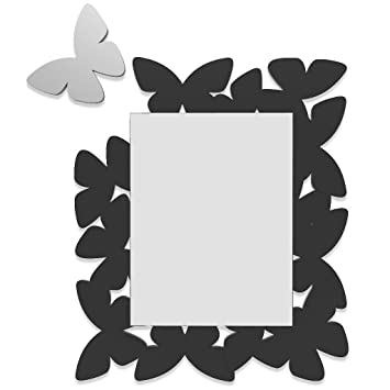 Wall mirror Made in Italy Butterfly Black