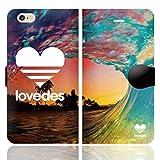 [iPhone6S 6 兼用 手帳型 ケース カバー] LOVEDES ハワイアン F
