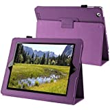eForCity PURPLE LEATHER SMART COVER CASE STAND CASE Compatible with iPad® 2 / 4