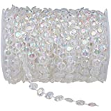 Generic 99 ft Clear Crystal Like Beads by the roll - Wedding Decorations