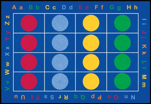 Learning Carpets CPR464 - Abc Dots Rectangle, Large