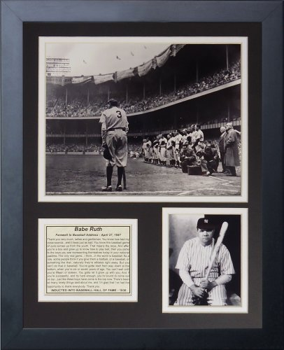 "Babe Ruth 11"" x 14"" Framed Photo Collage by Legends Never Die, Inc. - Farewell at Amazon.com"