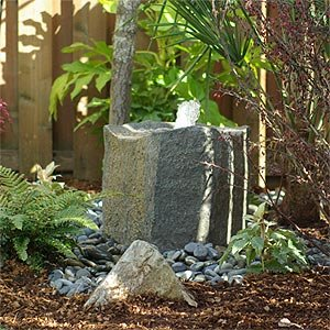 Outdoor Pond-Less Water Fountain w/ 2' x 2' Artificial Stone Bird-Bath Style Bowl