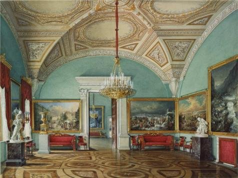 Oil Painting 'Hau Edward Petrovich,Interiors Of The Winter Palace,The Second Room Of The War Gallery,1807-1887' 20 x 27 inch / 51 x 68 cm , on High Definition HD canvas prints, Bed Room, Gym, decor (Bright Copper Kettles Candle compare prices)