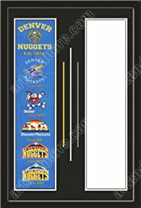 Denver Nuggets & Your Choice of other Team Heritage Banner Framed-House... by Art and More, Davenport, IA