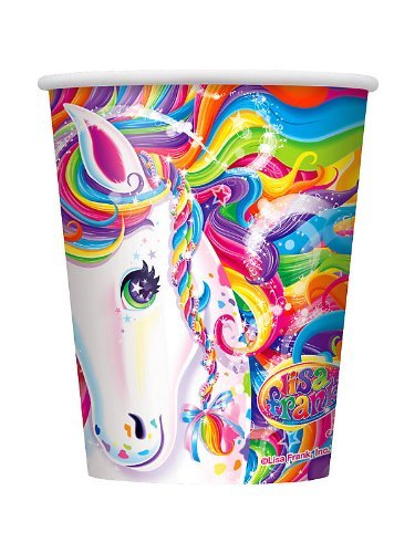 Lisa Frank Rainbow Majesty Unicorn 9 Oz Cups (8 Count)