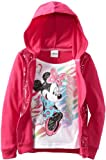 Disney Little Girls' Minnie Mouse Mock Hoodie Jacket