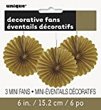 Mini ventilador de papel de seda decoración, 3unidades)