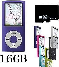 Btopllc Pourpre NOUVEAU Lecteur MP4/MP3-avec 16GB 16Go de carte Micro SD-1,81 Pouces TFT ecran lecteur audio, Audio Player, Media Player, Voice Recorder