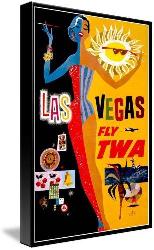 Vintage Airline Travel Art Print 11x17 inches TWA London