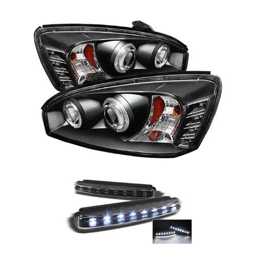 Chevy Malibu 04-07 Halo Projector Headlights - Black
