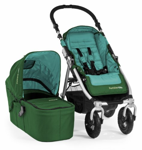 Bumbleride Indie 4 Urban All Terrain Stroller with Bassinet, Green Papyrus - 1