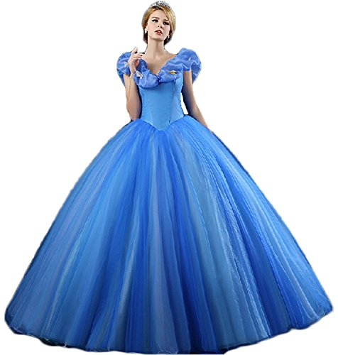 MissProm Women Cinderella Princess Prom Dress Long Pageant Ball Gowns