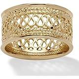 Toscana - Ring - Vergoldet 14 Karat (585) - mit filigranem Muster