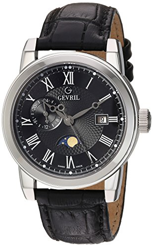 Gevril-Mens-2530-CORTLAND-Analog-Display-Swiss-Quartz-Black-Watch