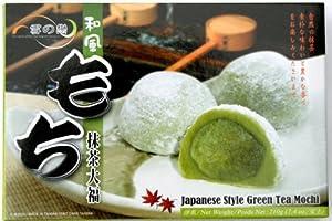 """XueZhiLian 6 Reiskuchen """"Mochi"""" nach japanischer Art, mit Grüner-Tee- Geschmack 210g"""
