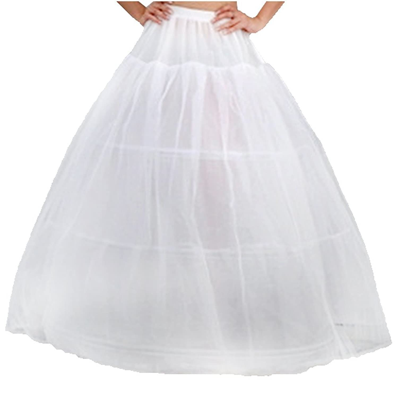SODIAL (R) Doppelfaden Brauthochzeitskleid Beleg Unterrock Petticoat – Weiss kaufen