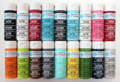 Martha stewart crafts multi surface satin acrylic craft for Martha stewart glass paint colors