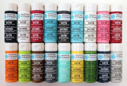 Martha Stewart Satin Acrylic Craft Paint Set  Colors