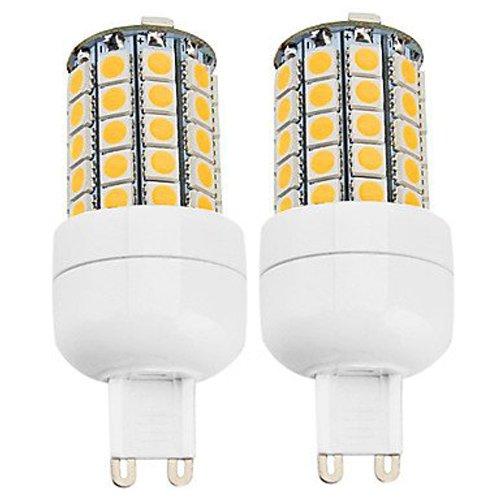 How Nice 6W Led Bulbs Corn Light G9 59X5050Smd 540Lm 2800-3500K Warm White Light Led Corn Bulb (110-240V) -Pack Of 2