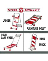 Total Trolley 4 in 1 Moving Trolley, Step Ladder, Hand Truck, Furniture Dolly, Carries Up To 150 lbs. In Hand Truck Mode & 800 lbs. in Trolley Mode