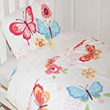 Butterfly Toddler Duvet Cover - White Bedding Set
