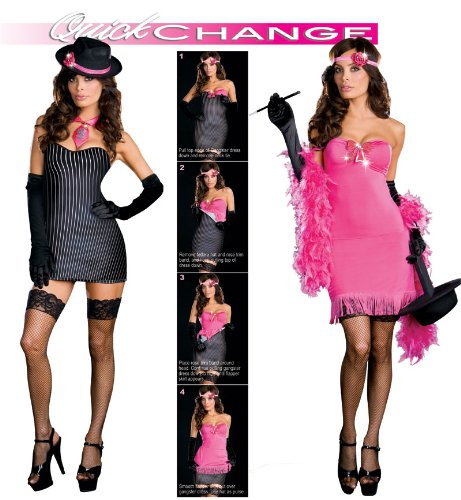 Sexy Gangster and Flapper Costume - Womens Small 2-6