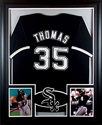 Frank Thomas Framed Jersey Signed JSA COA Autographed Chicago White Sox