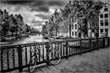 Poster 100 x 70 cm: Amsterdam Emperor's Canal / Keizergracht by Melanie Viola - high quality art print, new art poster